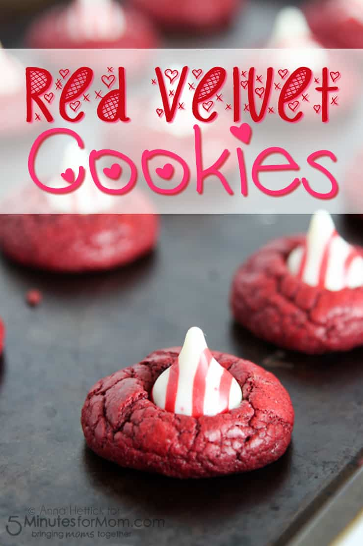 Red Velvet Cake Mix Cookies for Valentine's Day