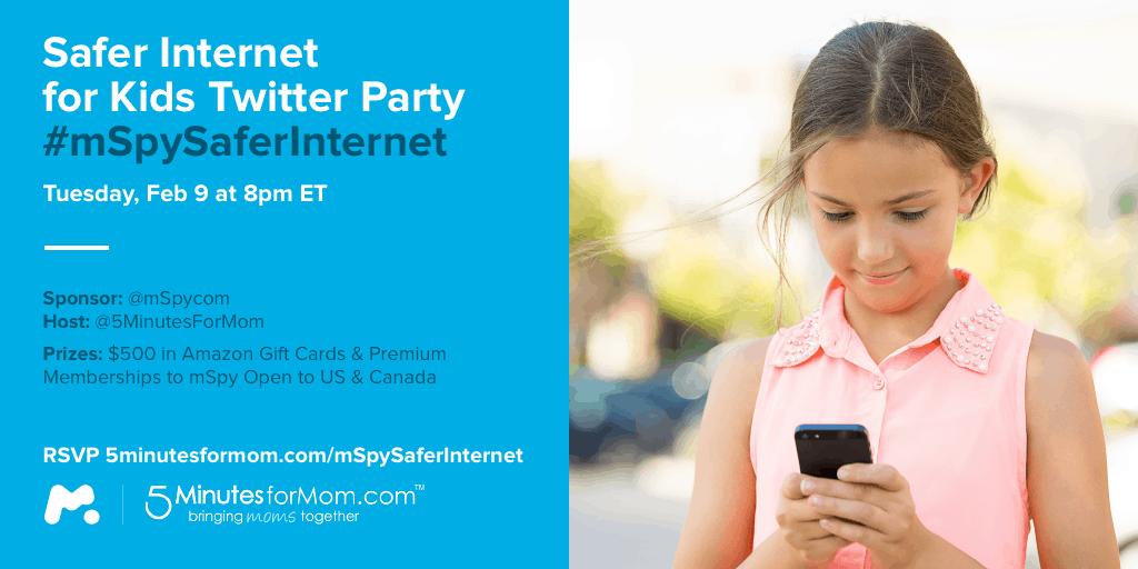 Safer Internet for Kids Twitter Party mSpySaferInternet