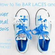 How to Tie Shoelaces on Converse Loopholes with Bar Laces and Bows