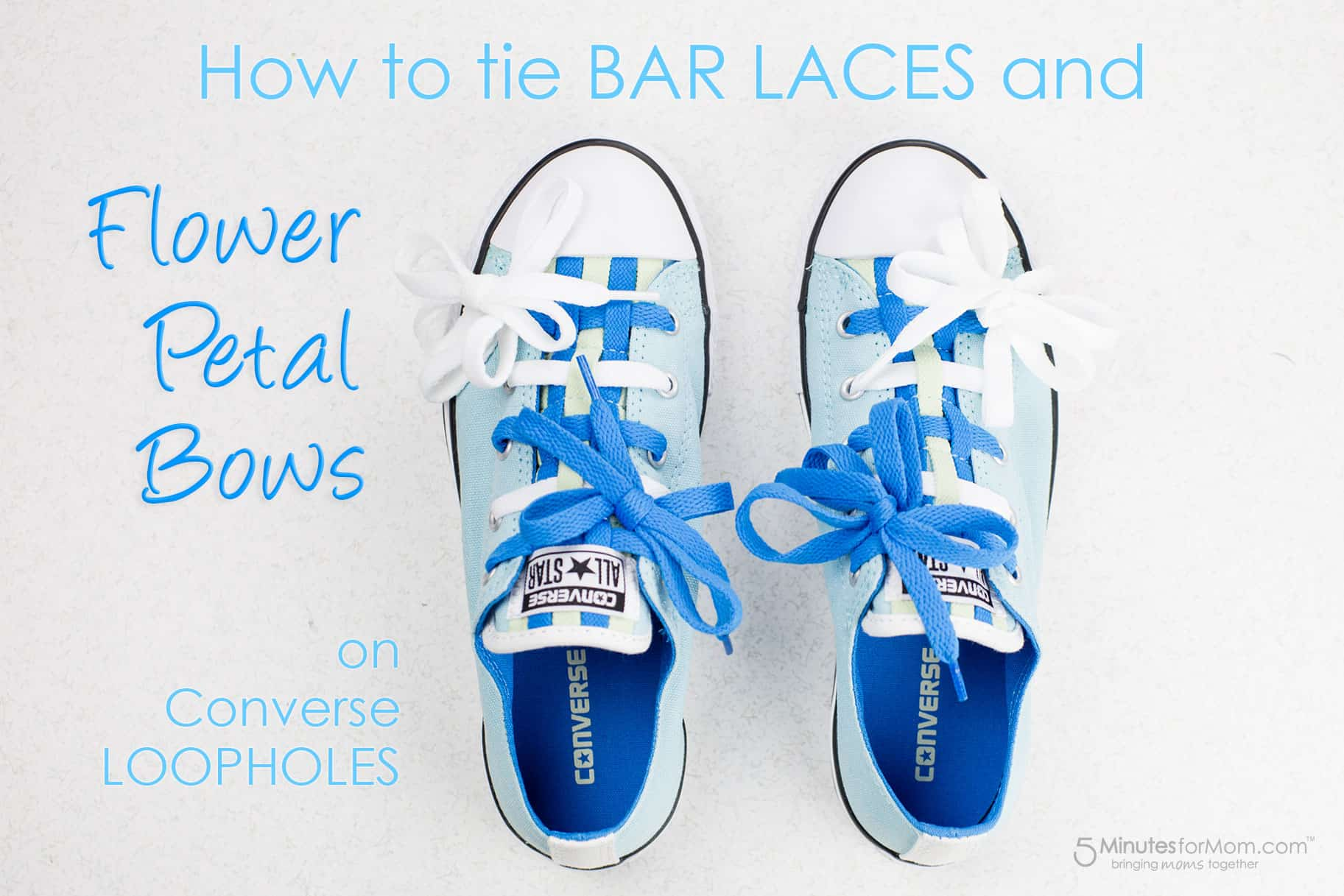 2464b4f9fb2a How to Tie Shoelaces on Converse Loopholes with Bar Laces and Bows