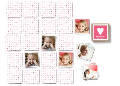 Hearts Memory Game - This makes such a cute personalized gift for kids