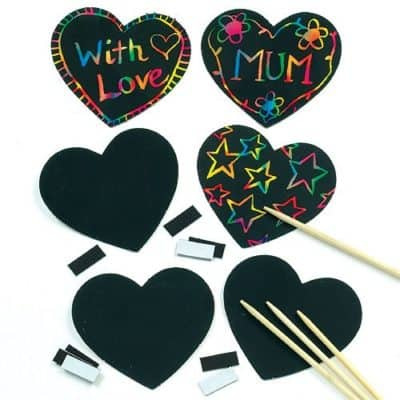 Scratch Art for Valentine's Day