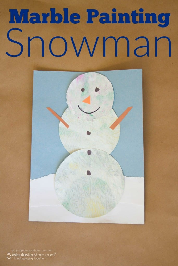 Marble Painting Snowman