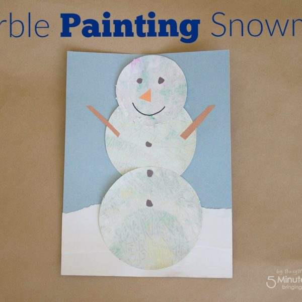 Marble Painting Snowman – Fun Winter Art Project for Kids
