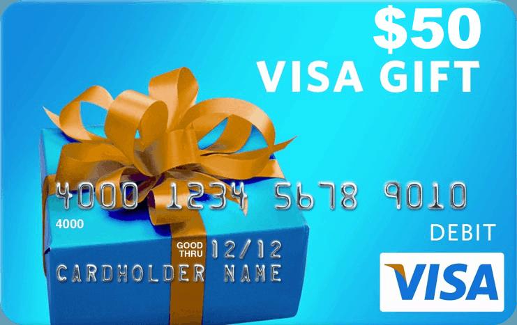 Image result for 50 visa gift card