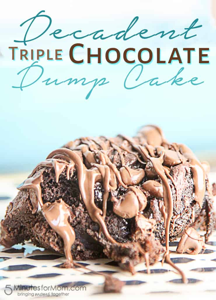 Decadent Triple Chocolate Dump Cake with only 4 ingredients!