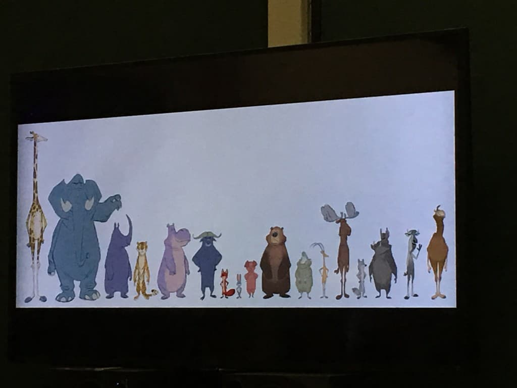 Zootopia - Animal Sizes