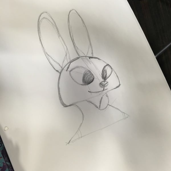 Zootopia - Dawns drawing of Judy Hopps