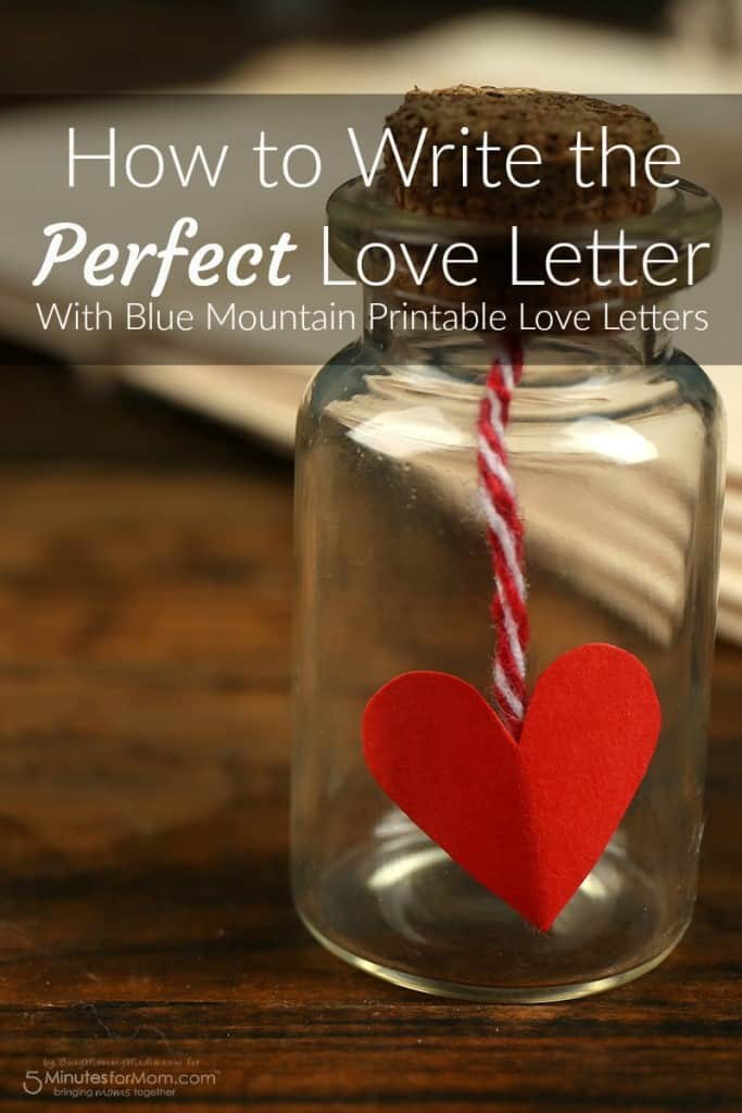Blue Mountain printable love letters