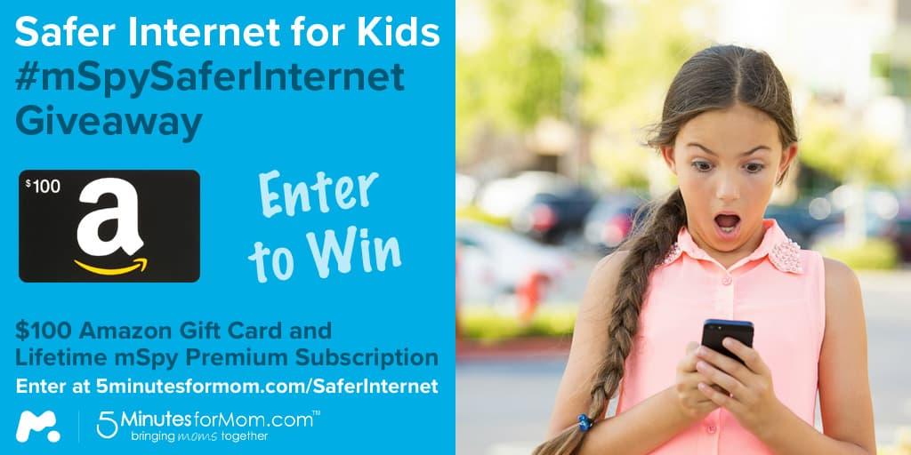mspy Safer Internet for Kids Giveaway
