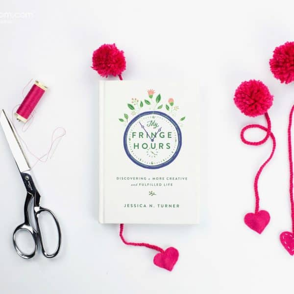 Yarn Pom Pom Bookmarks with Felt Hearts