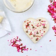 White Chocolate Topped Sugar Cookies Recipe