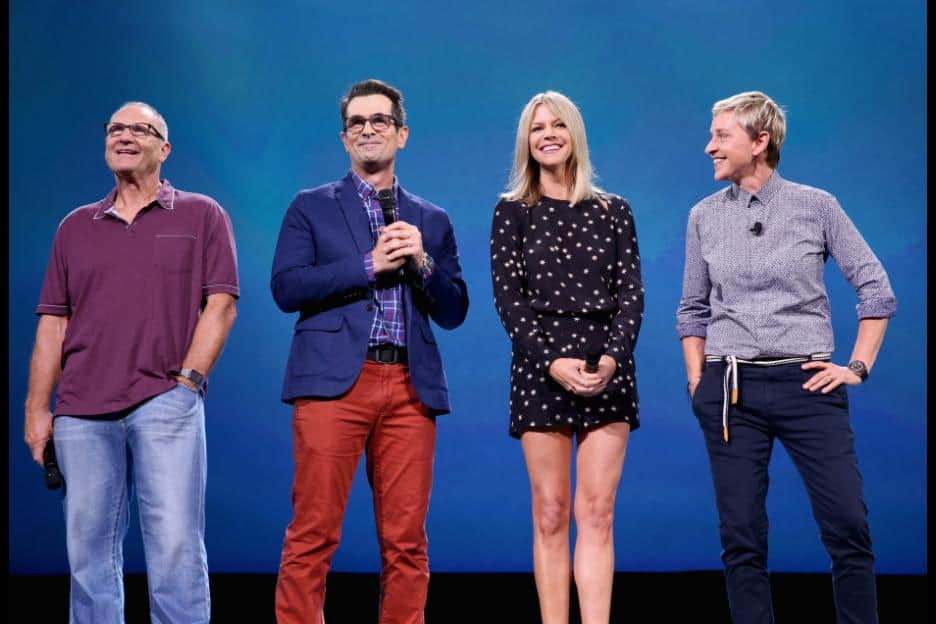 D23 Expo 2015 Cast - Ellen DeGeneres, Ed O'Neill, Kaitlin Olson, Ty Burrell,