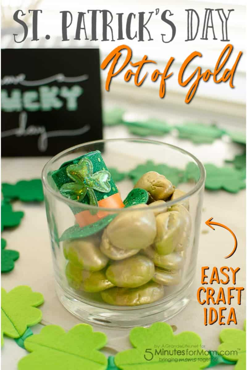 St Patricks Day Pot of Gold - Easy Craft Idea