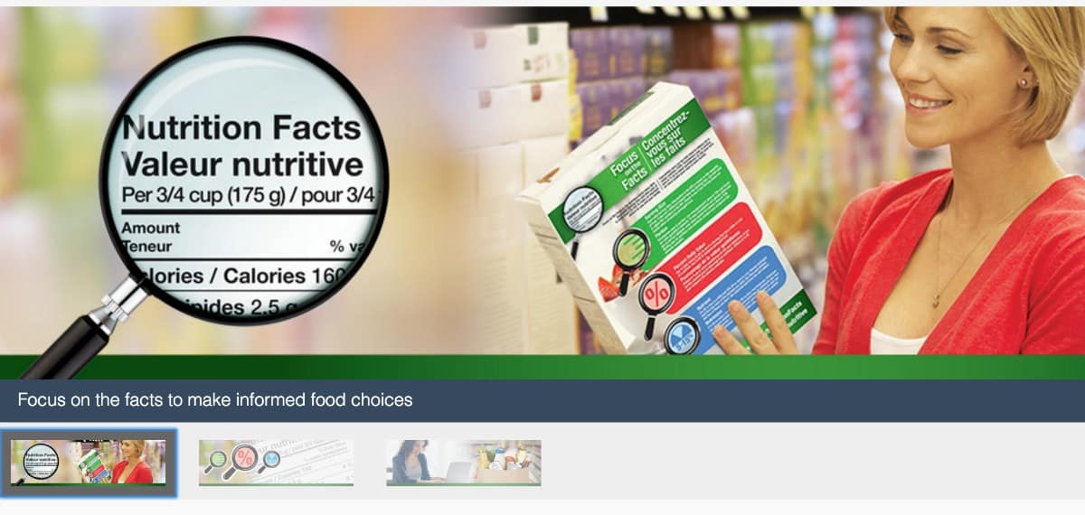 Focus on the Facts - Nutrition Facts Website