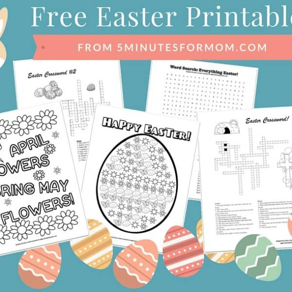 Free Easter Printables for Kids – Coloring Sheets and Crosswords
