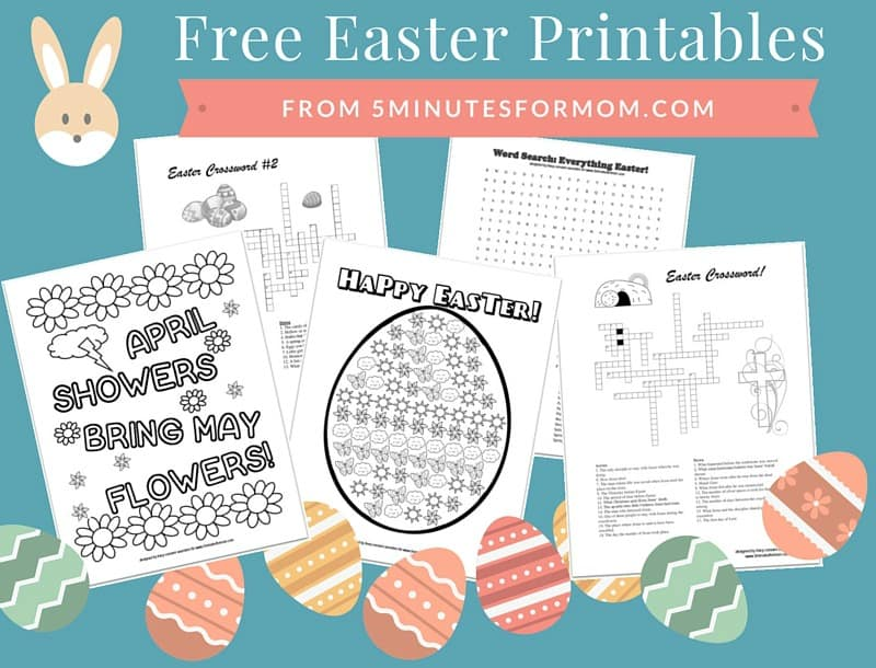 Free Easter Printables for Kids Coloring Sheets and Crosswords