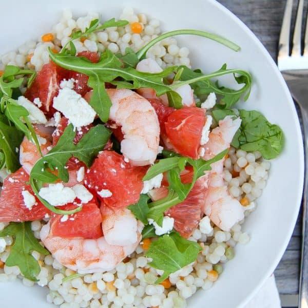 Grapefruit, Shrimp and Couscous Salad Recipe