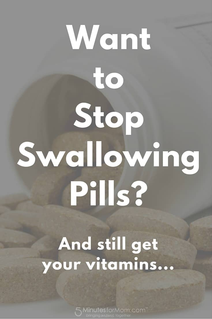How to stop swallowing pills but still get your vitamins