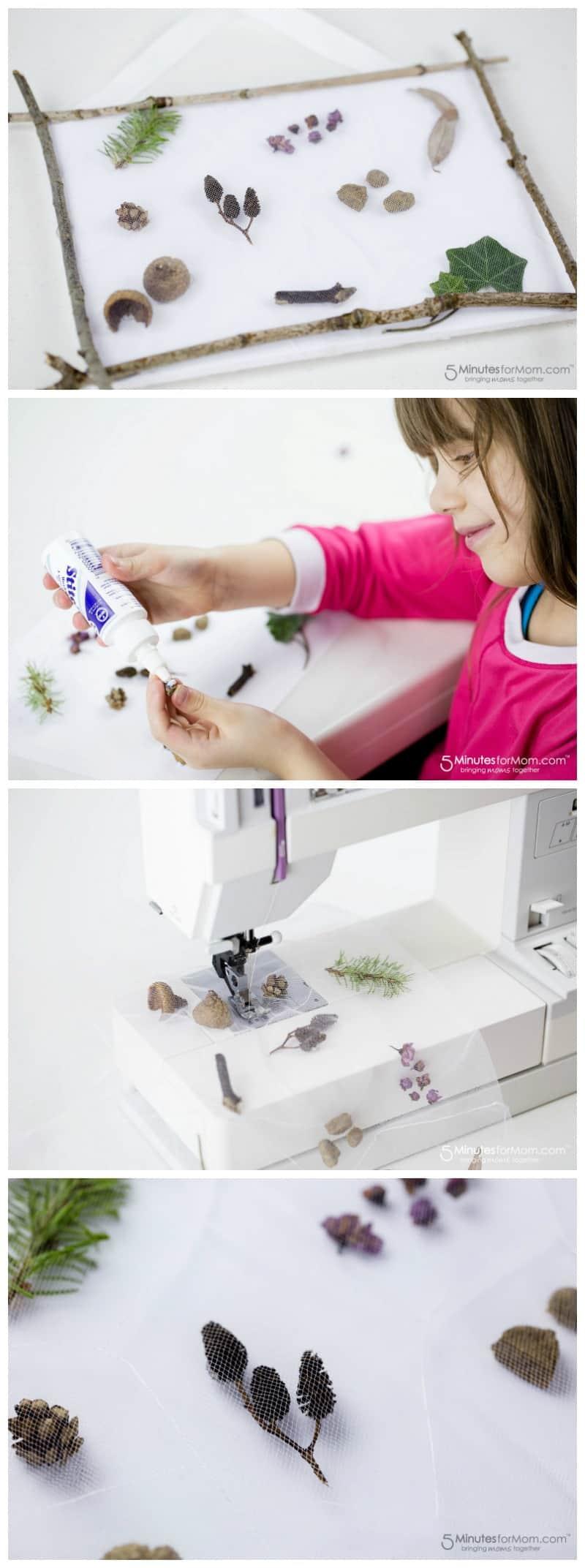 Nature Pocket Art - Beautiful Nature Craft for Kids