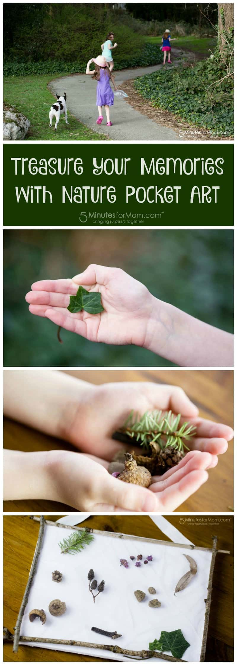 Treasure your memories with Nature Pocket Art - A Beautiful nature craft for kids
