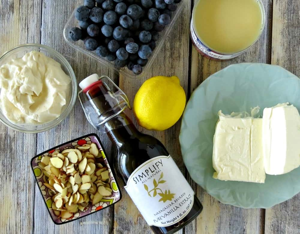 Whipped Lemon Cheesecake and Blueberry Parfaits Ingredients