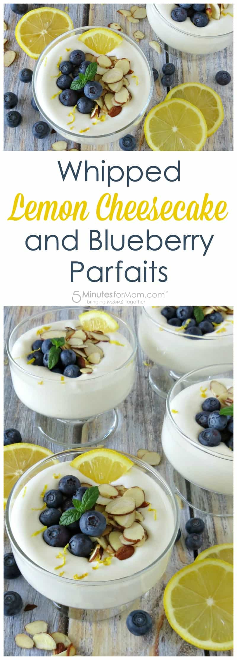 Whipped Lemon Cheesecake and Blueberry Parfaits