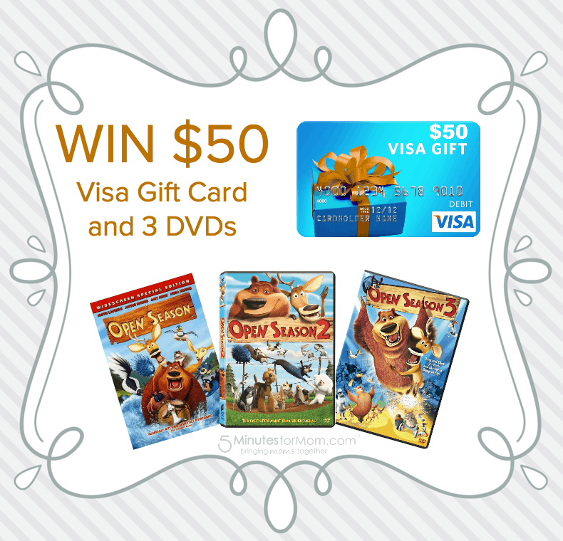 Win 50 Visa Gift Card and 3 Open Season DVDs