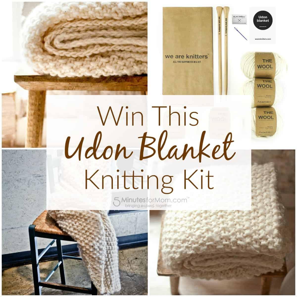 Win this Udon Blanket Knitting Kit