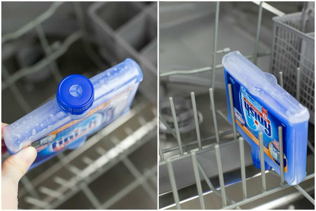 Cleaning Dishwasher with Finish Dishwasher Cleaner