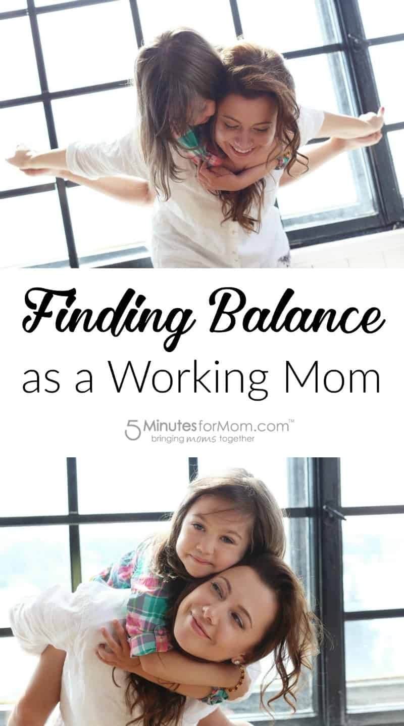 Finding Balancing as a Working Mom