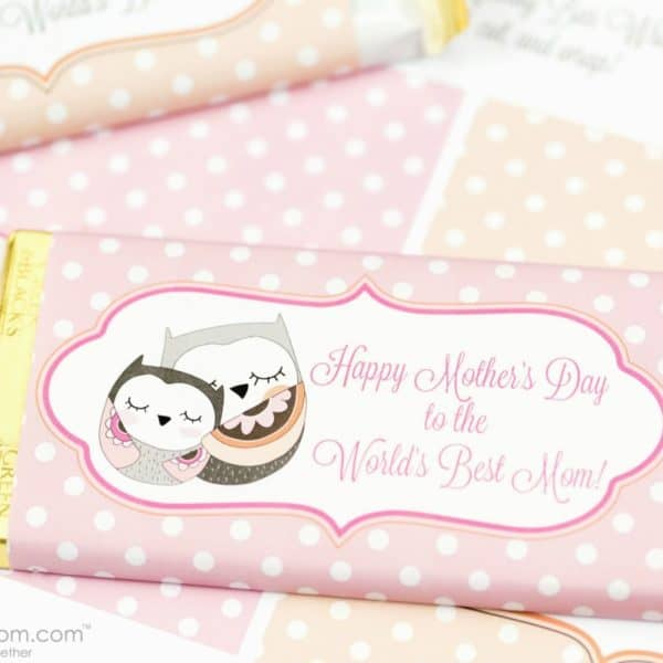 Mother's Day Candy Bar Wrapper Free Printable