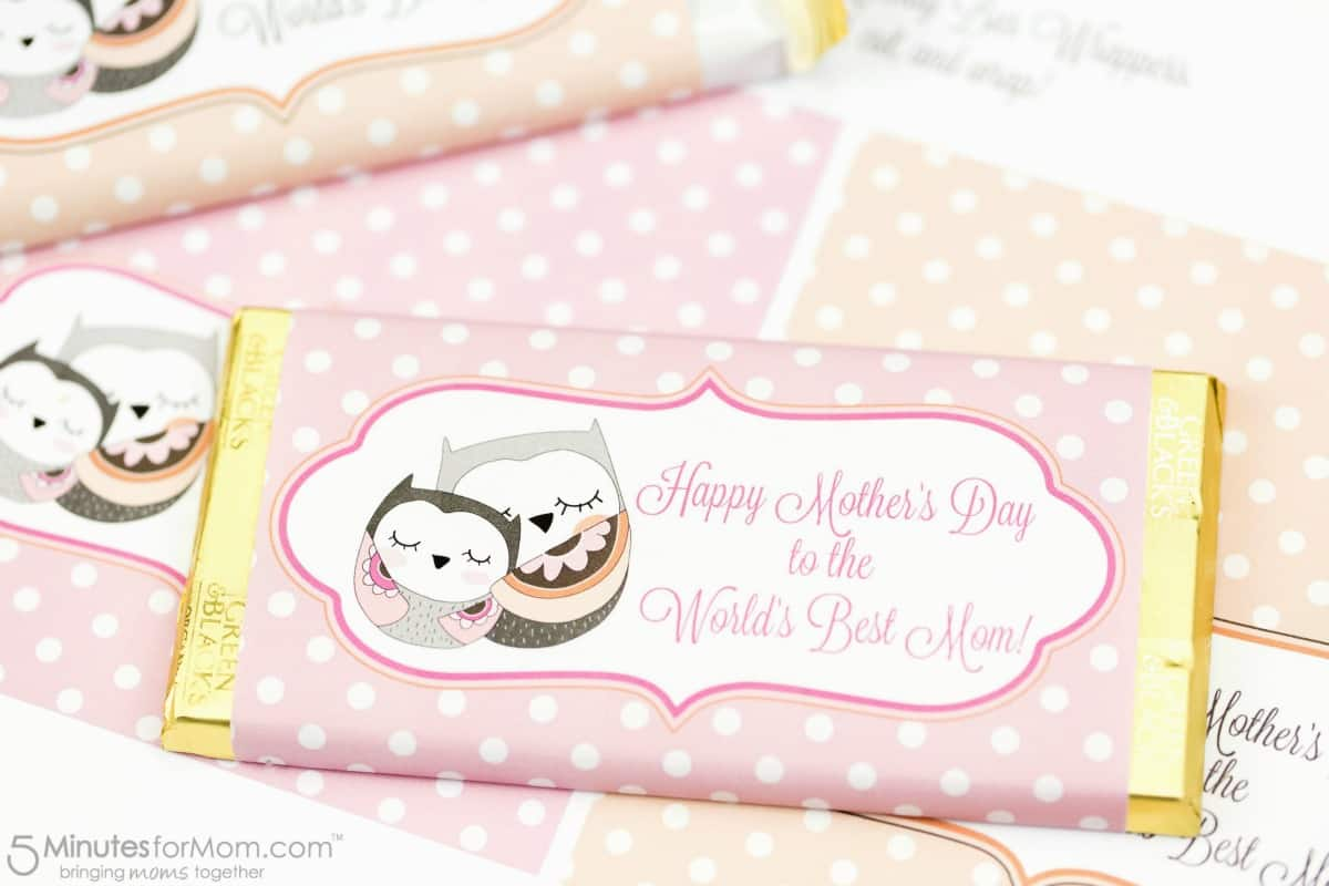 Happy Mothers Day Candy Bar Printable