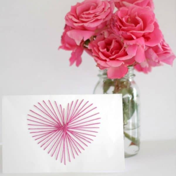 String Art Mother's Day Card