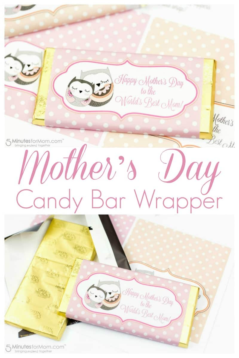 Mothers Day Candy Bar Wrapper - Free Printable #mothersday