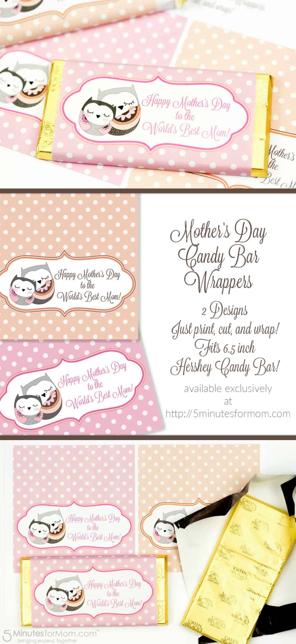 Mothers Day Candy Bar Wrappers Free Printable