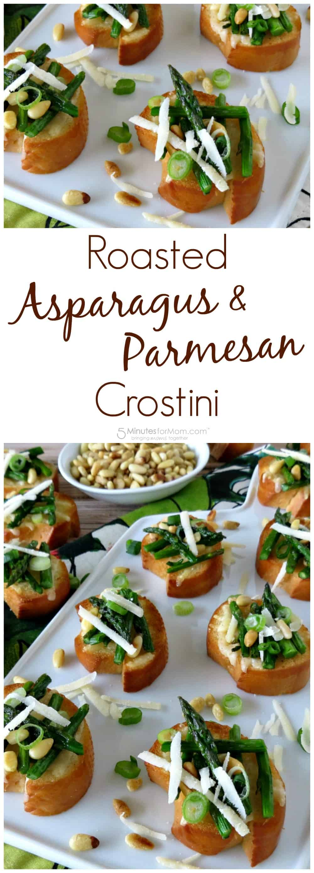 Roasted Asparagus and Parmesan Crostini - Appetizer Recipe