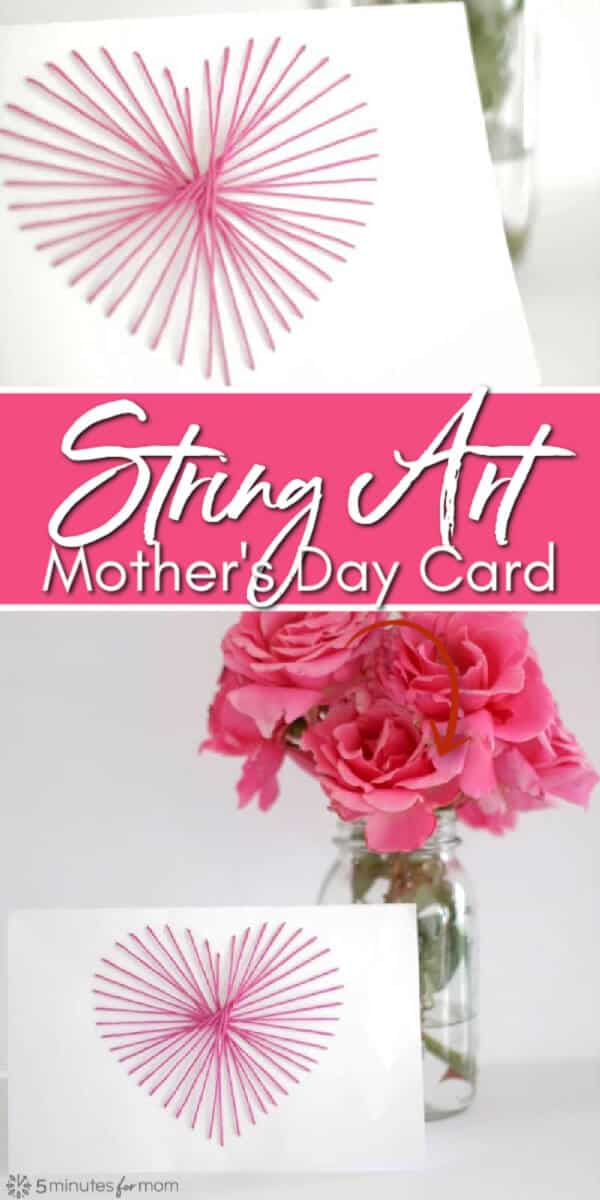String Art DIY Mothers Day Card