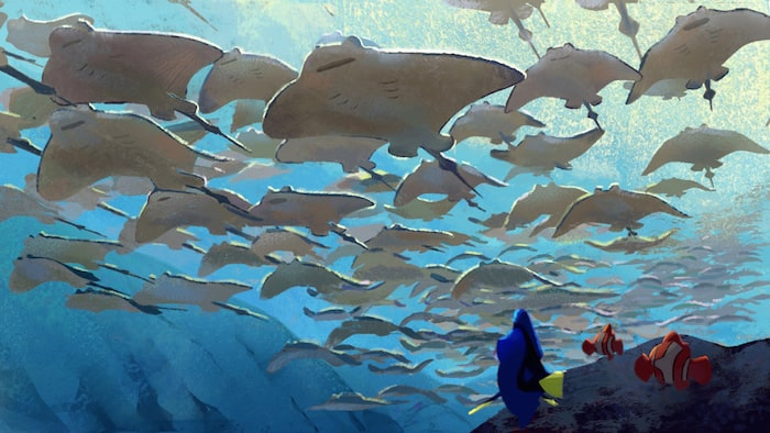 FINDING DORY – Ray Trench Painting (Concept Art) by Artist Rona Liu.