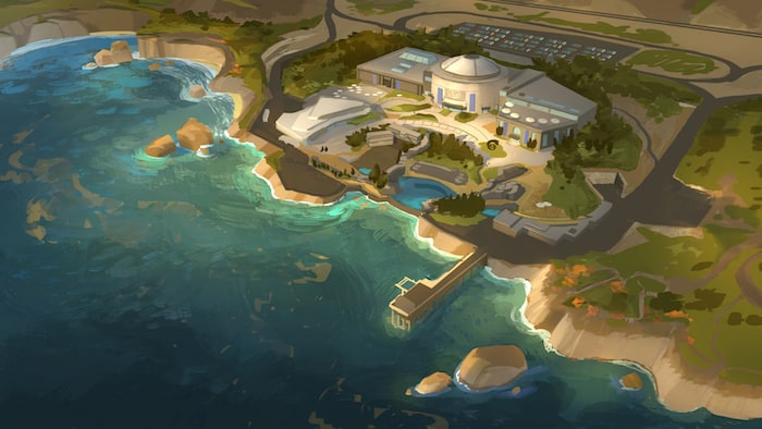 FINDING DORY – MLI Overview Painting (Concept Art) by Artist Tim Evatt.