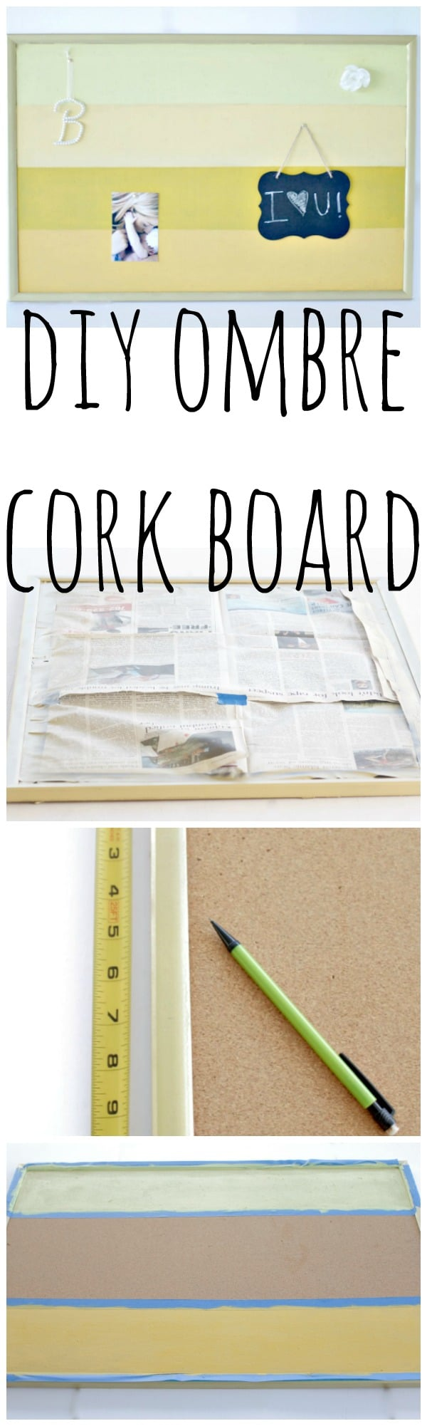 DIY Ombre Cork Board