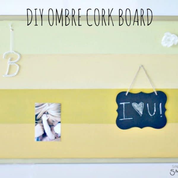 DIY Ombre Cork Board Craft