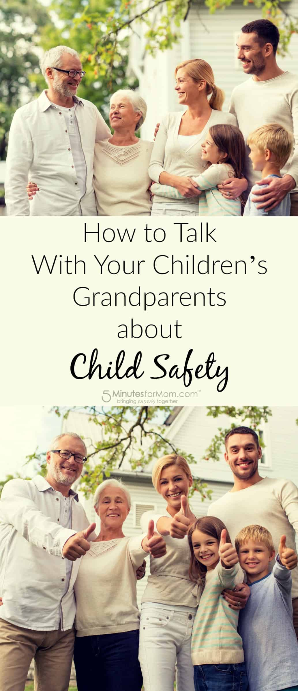 How to talk with grandparents about child safety