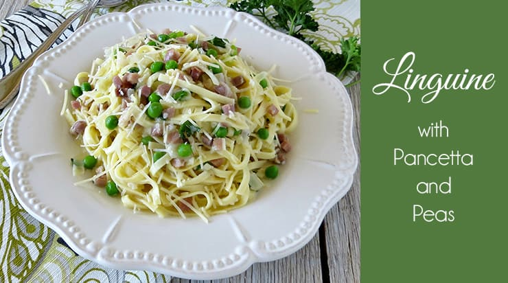 This Linguine with Pancetta and Peas is perfect for spring! It's fresh, savory, and satisfying all at the same time!