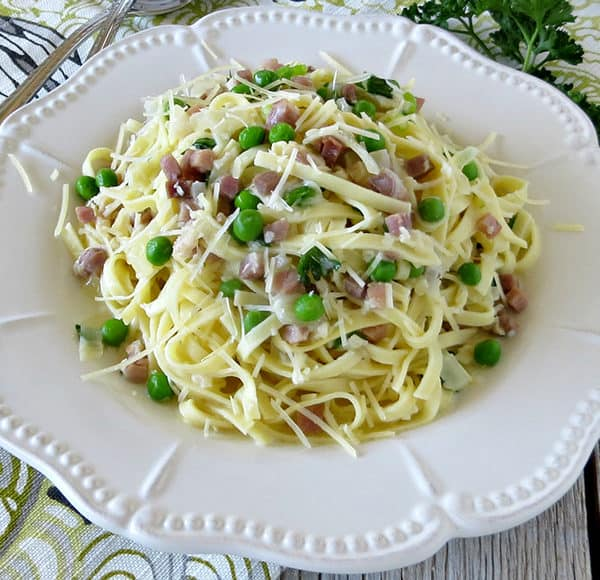 Linguine with Pancetta and Peas Recipe