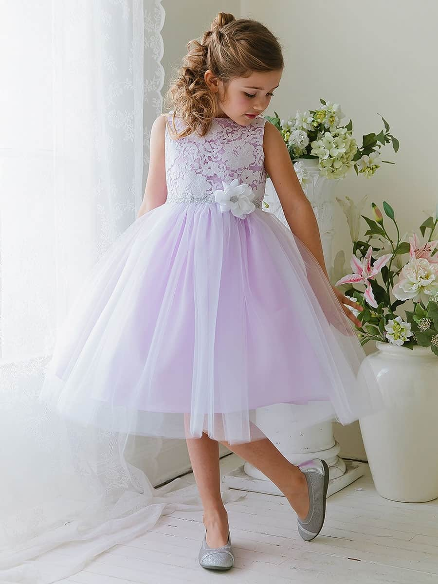 Lilac Lace and Tulle Dress