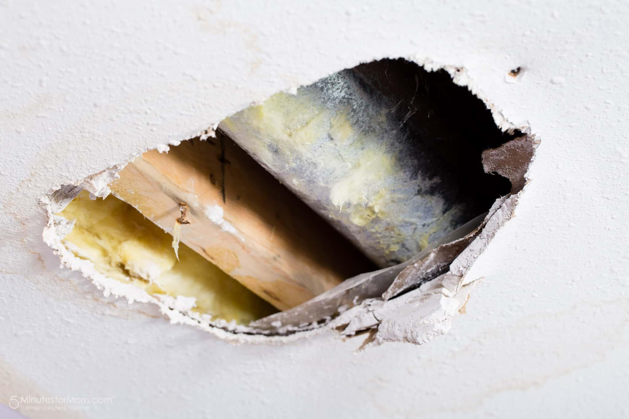 water damage basement ceiling