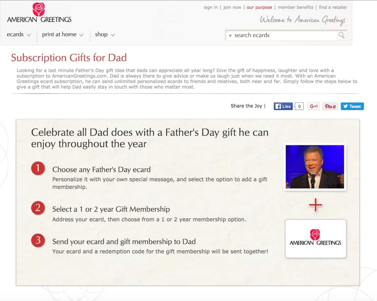 American Greetings Subscriptions Gifts for Dad
