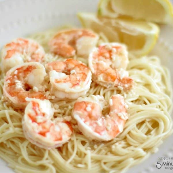 Easy 5 Ingredient Shrimp Scampi Recipe