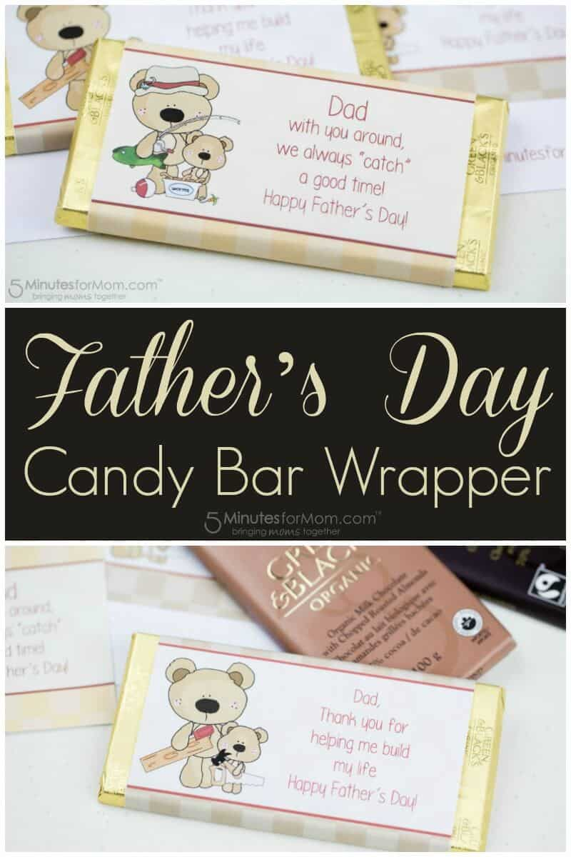 Fathers Day Candy Bar Wrapper - Easy DIY Gift for Dad